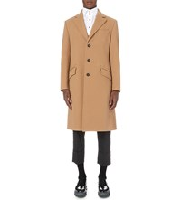 Vivienne Westwood Single Breasted Wool Blend Coat Camel