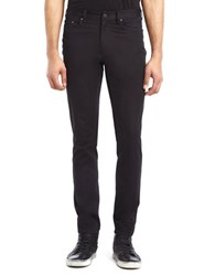 Kenneth Cole Slim Fit Sateen Pants Black