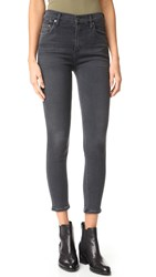 Citizens Of Humanity High Rise Rocket Crop Skinny Jeans Chateau