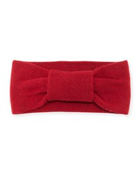 Portolano Cashmere Knotted Headband Ashton Red