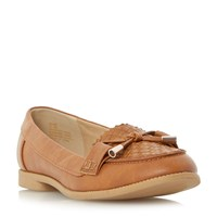 Head Over Heels Gemm Bow Trim Woven Loafers Tan