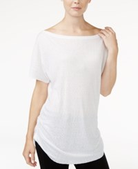 Rachel Roy Ruched Boat Neck T Shirt Only At Macy's White