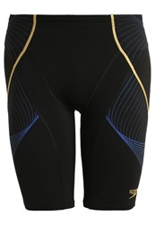Speedo Pinnacle Swimming Shorts Black Deep Peri Global Gold