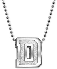 Little Collegiate By Alex Woo Dartmouth Pendant Necklace In Sterling Silver