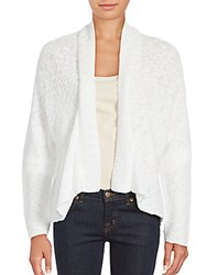 Eileen Fisher Boxy Open Front Cardigan White