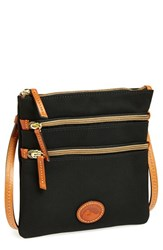 Dooney And Bourke Triple Zip Nylon Crossbody Bag Black