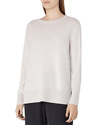 Reiss Edna Merino Wool Blend Sweater Silver Blue