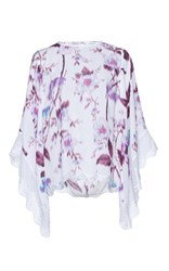 Andrew Gn Floral Printed Top Purple