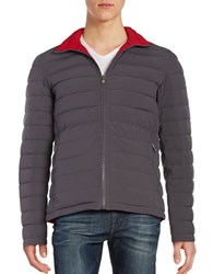 Nautica Reversible Quilted Puffer Jacket Dark Grey