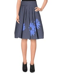 Erika Cavallini Semi Couture Erika Cavallini Semicouture Skirts Knee Length Skirts Women Slate Blue