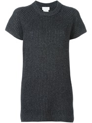 Dkny Shortsleeved Knit Top Grey