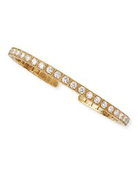 18K Yellow Gold Flex Bangle With White Diamonds Platinum Heart