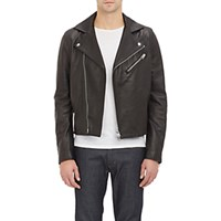 Acne Studios Men's Leather And Suede Gibson Moto Jacket Black