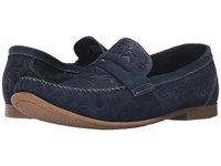 Stacy Adams Florian Navy Suede Men's Slip On Shoes Blue
