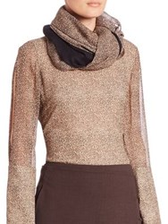 Akris Silk And Cashmere Two Tone Shawl Date Steppe