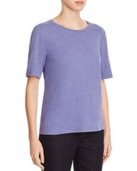 Eileen Fisher Organic Cotton Heathered Tee Periwinkle