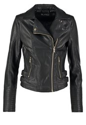 Miss Selfridge Elsy Faux Leather Jacket Black