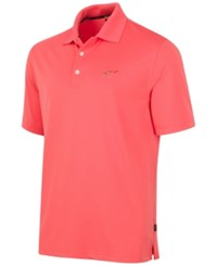 Greg Norman For Tasso Elba Big And Tall 5 Iron Performance Golf Polo Deep Sea Coral