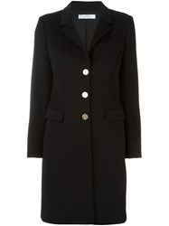 Versace Collection Classic Single Breasted Coat Black