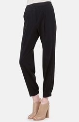 Akris Punto Pleat Techno Ankle Pants Noir
