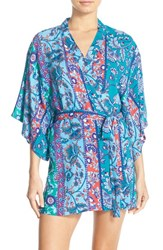 Josie Women's 'Patch Me Up' Happi Coat Robe Blue
