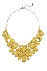 Eye Candy Los Angeles June Statement Bib Necklace Yellow