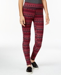 American Living Printed Leggings Only At Macy's Red Black