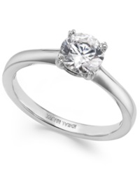 Macy's Idealmark Certified Diamond Solitaire Ring In Platinum 1 Ct. T.W.