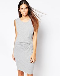 B.Young Pencil Dress With Knot Front Grey