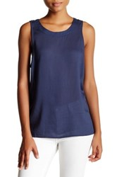 14Th And Union Self Tie Knit Tank Petite Blue