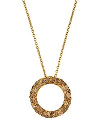 Roberto Coin 18K Brown Diamond Circle Pendant Necklace Women's