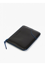 Comme Des Garcons Blue Marvellous Zip Coin Holder