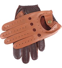 Dents Waverley Two Tone Leather Driving Gloves Cognac Eng Tan