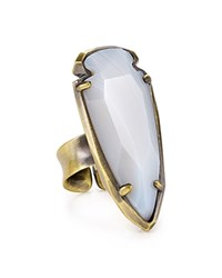 Kendra Scott Kenny Ring White Banded Agate
