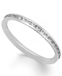 Macy's 14K White Gold Ring Cubic Zirconia Polished Band 1 1 2 Mm