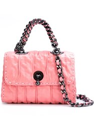 Ermanno Scervino Wrinkle Effect Crossbody Bag Pink And Purple