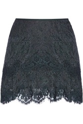 Isabel Marant Mayra Tiered Lace Mini Skirt Blue