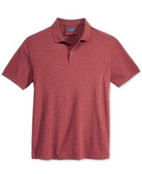 Armani Jeans Men's Dot Polo Red