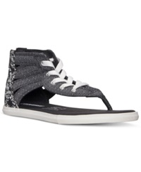 Converse Women's Chuck Taylor Gladiator Thong Sandals From Finish Line Black Storm Wind White
