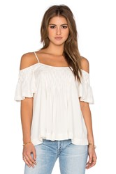 Ella Moss Stella Cold Shoulder Tank White