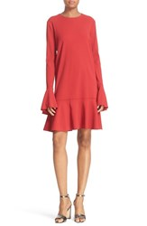 Theory Women's 'Marah Bergen' Bell Sleeve Flounce Hem Dress