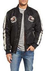 Schott Nyc Men's Nylon Souvenir Flight Jacket