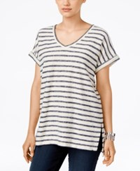 Styleandco. Style Co. Short Sleeve V Neck Sweatshirt Only At Macy's Ink