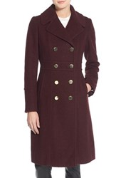 Guess Women's Fit And Flare Military Coat Wine
