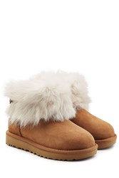 Ugg Australia Suede And Sheepskin Boots Brown