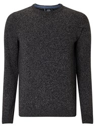 John Lewis Made In Italy Merino Cashmere Crew Neck Jumper Charcoal