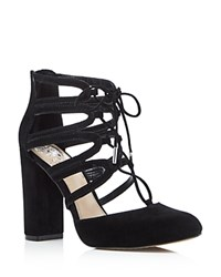 Vince Camuto Shavona Lace Up High Heel Pumps Black