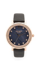 Kate Spade Monterey Watch Rose Gold Black