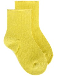 Erika Cavallini Knitted Socks Yellow And Orange