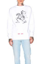 Off White Fleece Crewneck In White